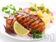Пилешко месо на скара с пикантна марината